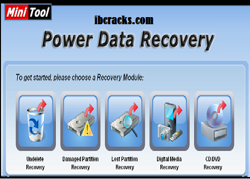 MiniTool Power Data Recovery 9.0 Crack Plus License Key Free Download
